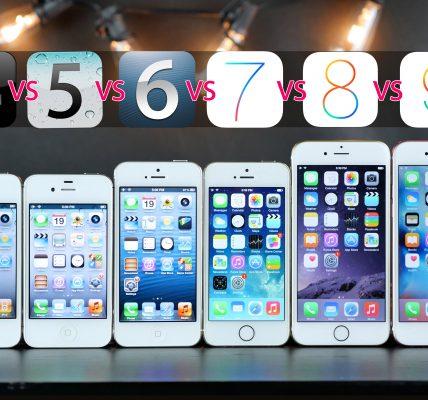comparatif iPhones