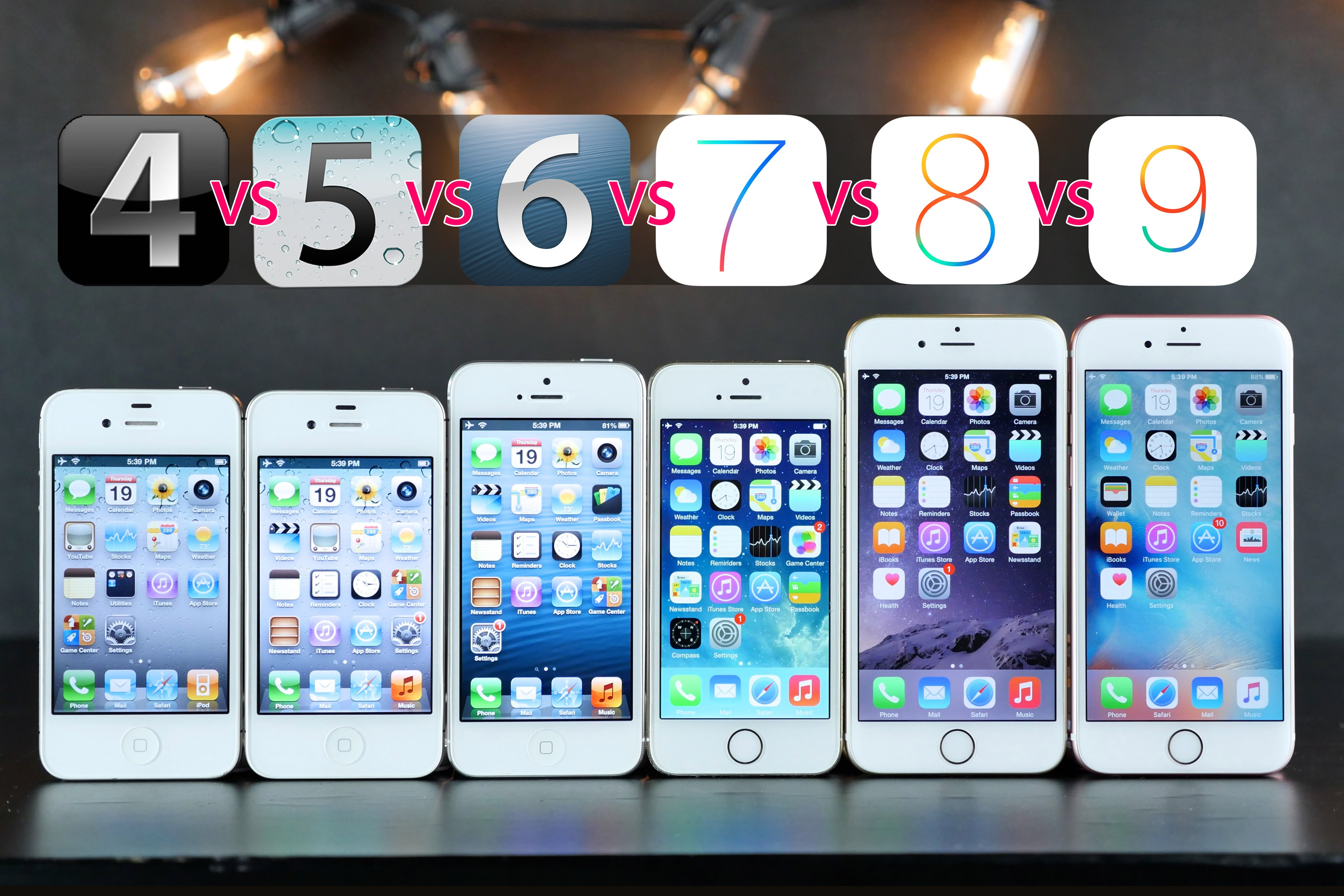 comparatif iPhones